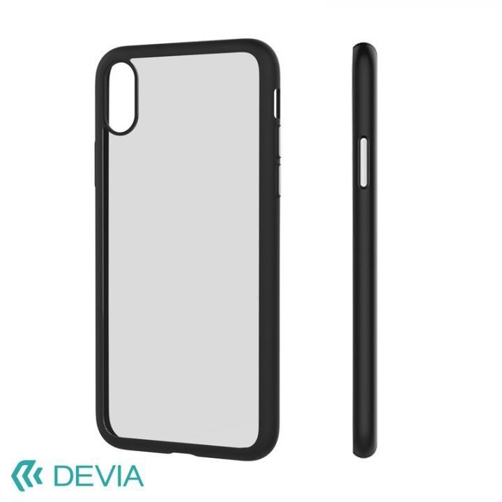 iPhone X ケース Devia Nobility フレーム付ソフトクリアケース ブラック iPhone X_0