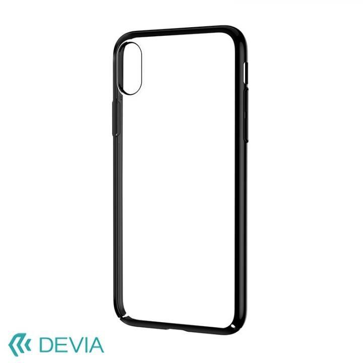 iPhone X ケース Devia Glimmer フレーム付ハードケース ブラック iPhone X_0