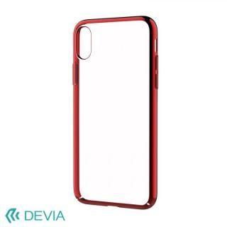 Devia Glimmer フレーム付ハードケース レッド iPhone X