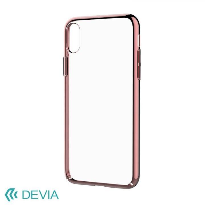 Devia Glimmer フレーム付ハードケース ローズゴールド iPhone X