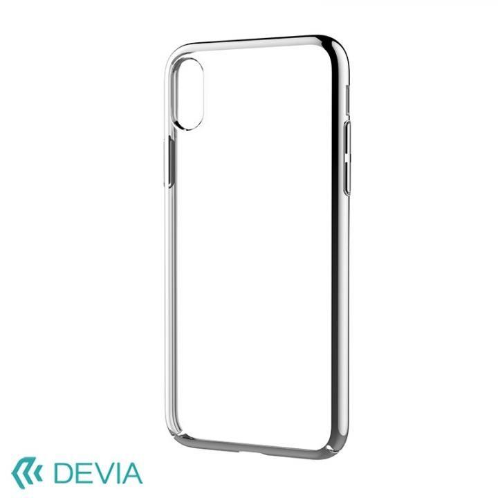 【iPhone Xケース】Devia Glimmer フレーム付ハードケース シルバー iPhone X_0