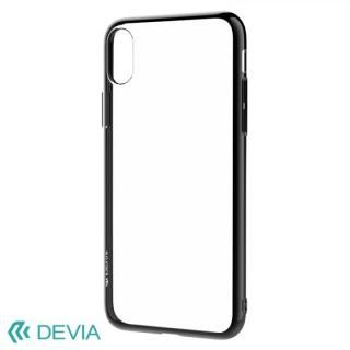 Devia Glitter 超薄型 フレーム付TPUケース ブラック iPhone X