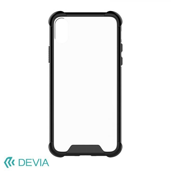 【iPhone Xケース】Devia Shockproof 衝撃ガード設計TPUケース ブラック iPhone X_0