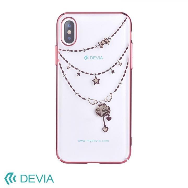 【iPhone Xケース】Devia Crystal Shell ケース ローズゴールド iPhone X_0