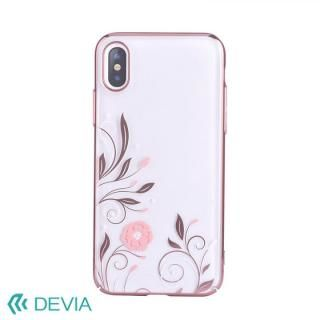 Devia Crystal Petunia ケース ローズゴールド iPhone X