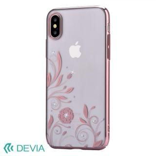 【iPhone Xケース】Devia Crystal Petunia ケース ローズゴールド iPhone X_1