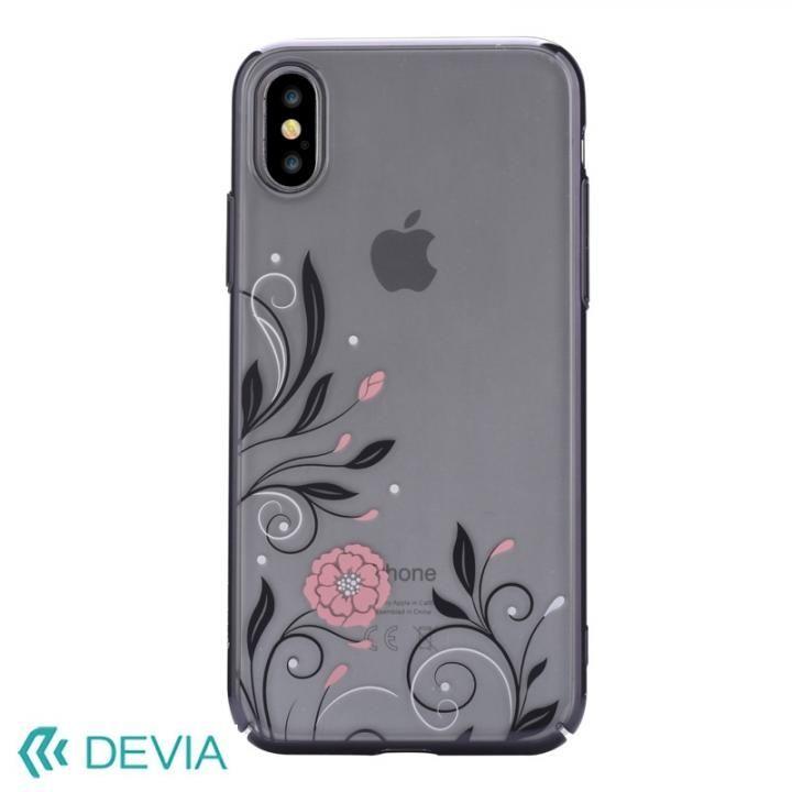 Devia Crystal Petunia ケース ブラック iPhone X