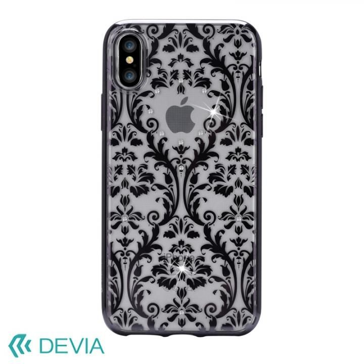 iPhone X ケース Devia Crystal Baroque ケース ブラック iPhone X_0