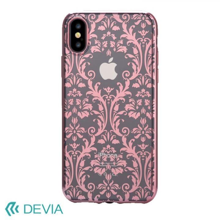 【iPhone Xケース】Devia Crystal Baroque ケース ローズゴールド iPhone X_0