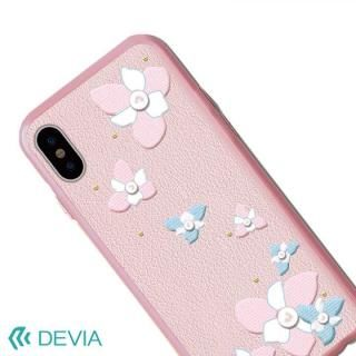 【iPhone Xケース】Devia Flower Embroidery ケース ピンク iPhone X_1