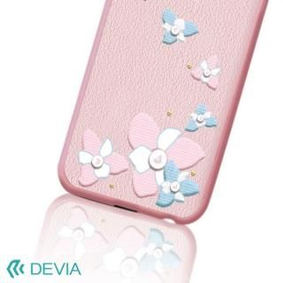【iPhone Xケース】Devia Flower Embroidery ケース ピンク iPhone X_2