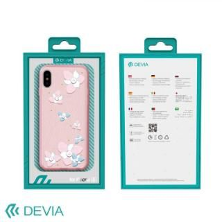 【iPhone Xケース】Devia Flower Embroidery ケース ピンク iPhone X_4