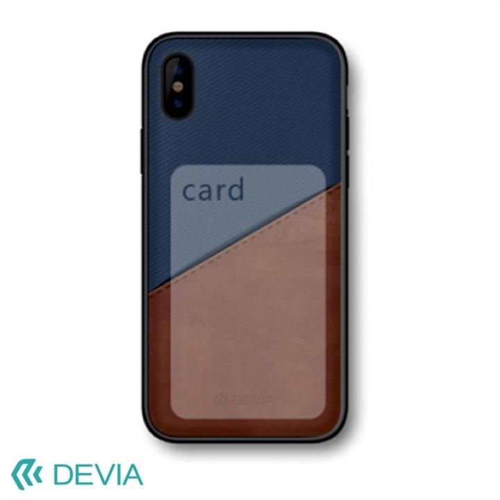 Devia iWallet ケース ブルー iPhone X