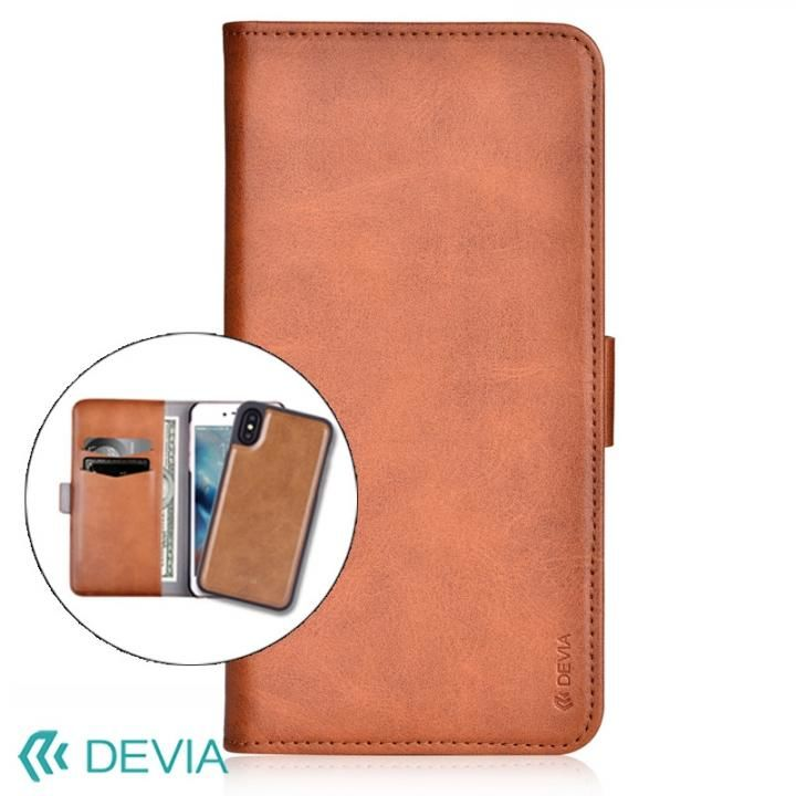 Devia Magic 2 in 1 手帳型ケース ブラウン iPhone X