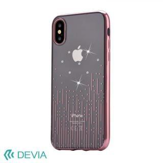 Devia Crystal Meteor ソフトケース ローズゴールド iPhone X