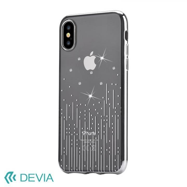 iPhone X ケース Devia Crystal Meteor ソフトケース シルバー iPhone X_0