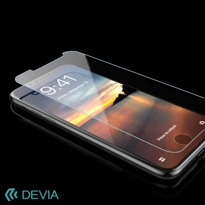 【iPhone Xフィルム】[0.26mm]Devia スタンダードタイプ液晶保護強化ガラス iPhone X_0