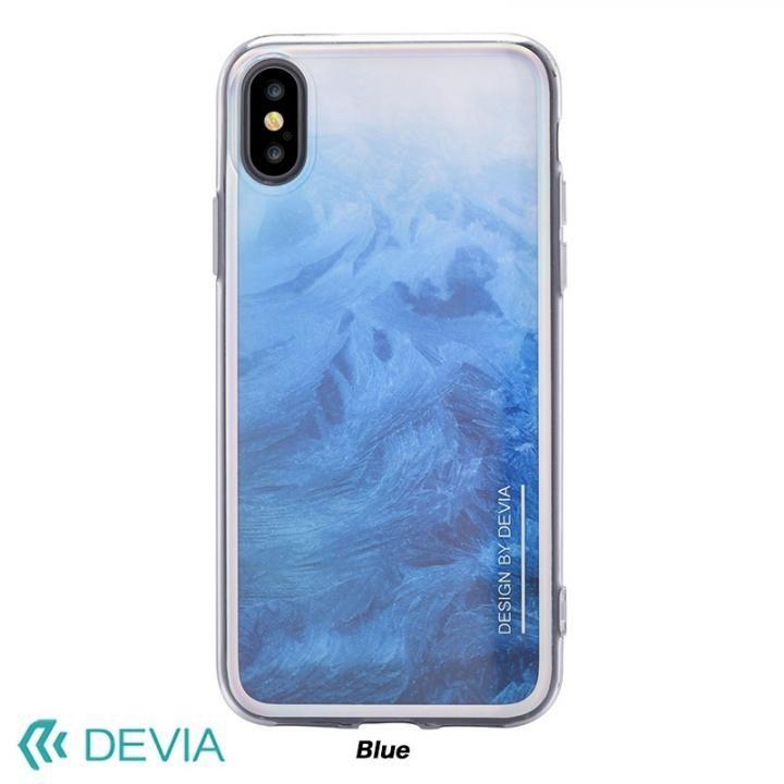 【iPhone Xケース】Devia Mirror ケース ブルー iPhone X_0