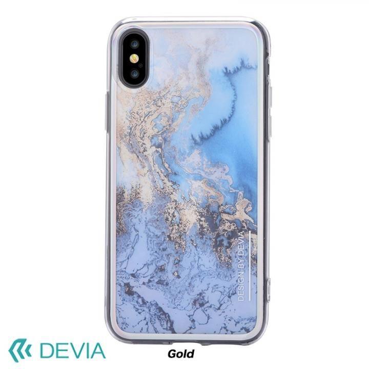 【iPhone Xケース】Devia Mirror ケース ゴールド iPhone X_0