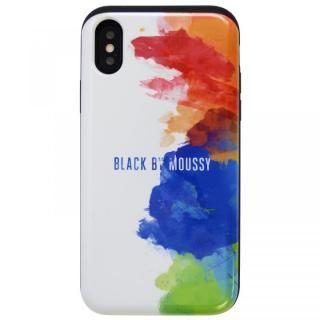 【iPhone XS/Xケース】BLACK BY MOUSSY 「シェルケース/スプレー」 ホワイト iPhone XS/X