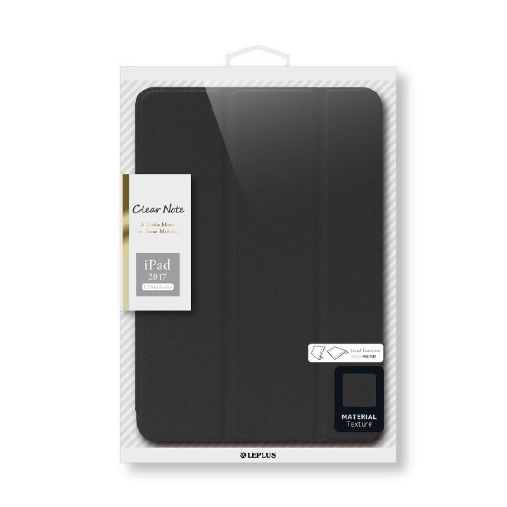 背面クリアフラップケース 「Clear Note」 ブラック iPad Pro 12.9インチ_0