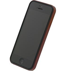 iPhone SE/5s/5 ケース フラットバンパーセット  iPhone5(メタリックレッド)_0