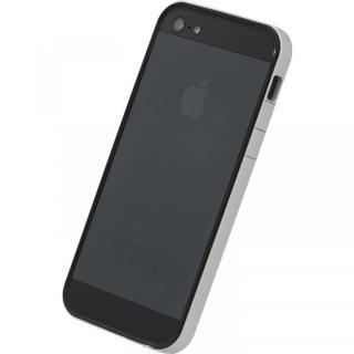 フラットバンパーセット  iPhone5(シルバー&ブラック)