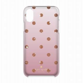 kate spade new york ハードケース Glitter Dot -Foxglove Ombre iPhone X
