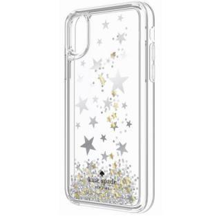 【iPhone Xケース】kate spade new york ラメグリッターリキッドケース キラキラ星 iPhone X_1
