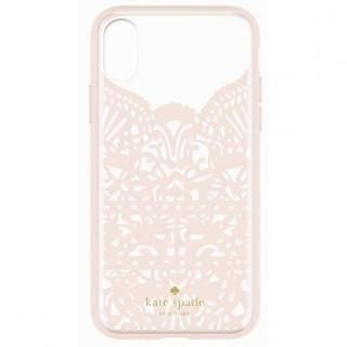 kate spade new york レースケージケース ピンク/クリア iPhone X