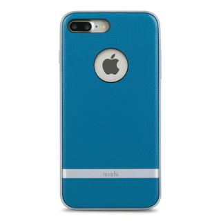 moshi Napa レザーレット ハイブリッドケース ブルー iPhone 7 Plus【10月中旬】