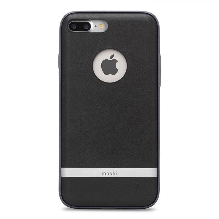 moshi Napa レザーレット ハイブリッドケース ブラック iPhone 7 Plus