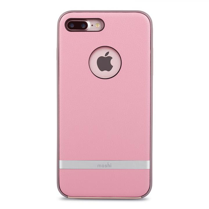 moshi Napa レザーレット ハイブリッドケース ピンク iPhone 8 Plus/7 Plus