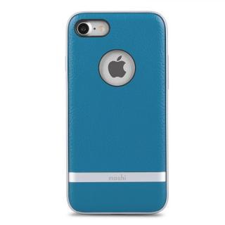 [2017夏フェス特価]moshi Napa レザーレット ハイブリッドケース ブルー iPhone 7