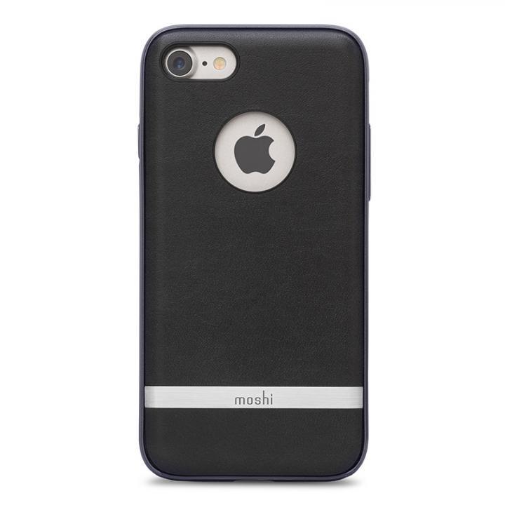 【iPhone8/7ケース】moshi Napa レザーレット ハイブリッドケース ブラック iPhone 8/7_0