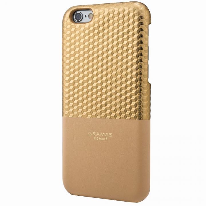 【iPhone6s/6ケース】GRAMAS FEMME バックレザーケース Hex ゴールド iPhone 6s/6_0