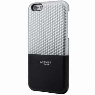GRAMAS FEMME バックレザーケース Hex シルバー iPhone 6s/6