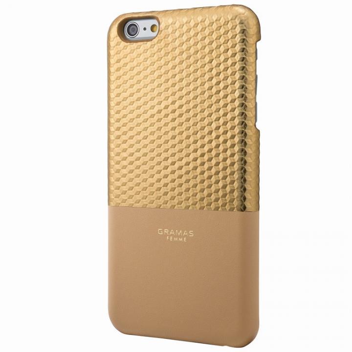 GRAMAS FEMME バックレザーケース Hex ゴールド iPhone 6s Plus/6 Plus