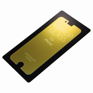 iPhone6s/6 フィルム GRAMAS FEMME 簡易ミラー機能付き強化ガラス ゴールド iPhone 6s/6