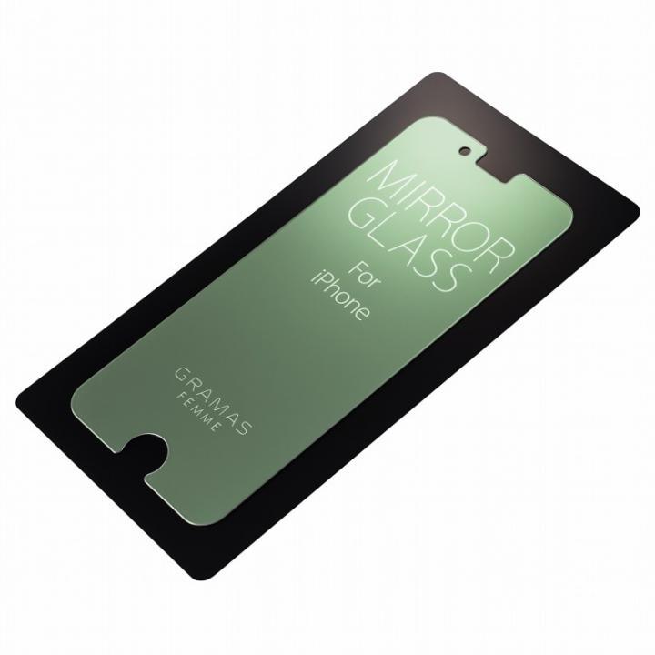 iPhone6s/6 フィルム GRAMAS FEMME 簡易ミラー機能付き強化ガラス シルバー iPhone 6s/6_0