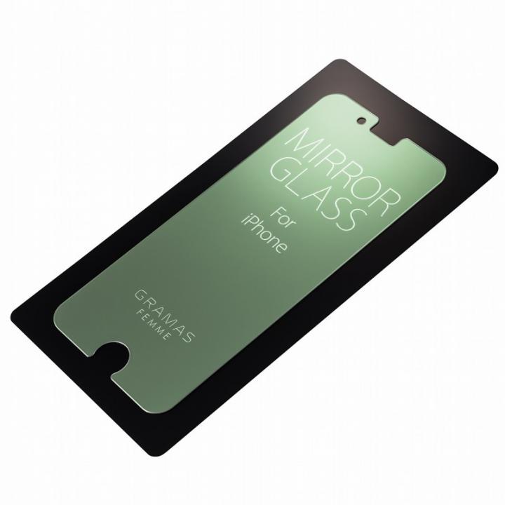 iPhone6s Plus/6 Plus フィルム GRAMAS FEMME 簡易ミラー機能付き強化ガラス シルバー iPhone 6s Plus/6 Plus_0