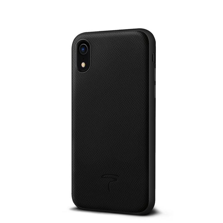 iPhone XR ケース エプソン 背面牛本革ケース  ブラック iPhone XR_0