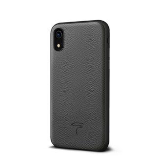 【iPhone XRケース】エプソン 背面牛本革ケース  グレー iPhone XR