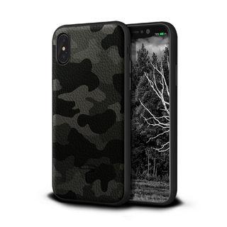 iPhone XR ケース Toria Design Camo 牛本革背面ケース アーバン iPhone XR