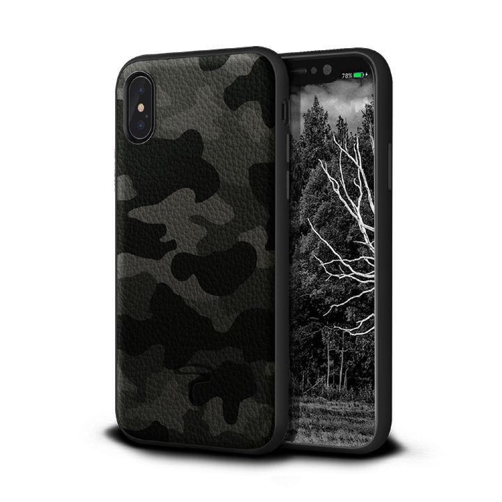 iPhone XR ケース Toria Design Camo 牛本革背面ケース アーバン iPhone XR_0