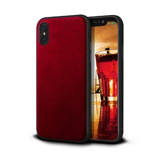 アルカンターラ 背面ケース レッド  iPhone XS/X