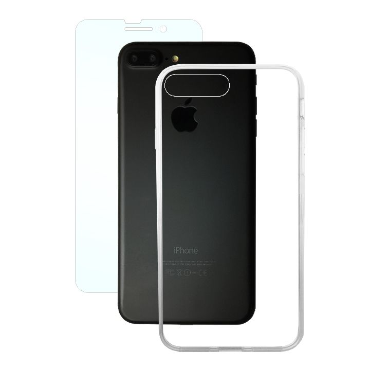 【iPhone8 Plus/7 Plusケース】AppBank Store特別セット A+ Clear Panel Case/マックスむらいのアンチグレアフィルムセット iPhone 8 Plus/7 Plus_0