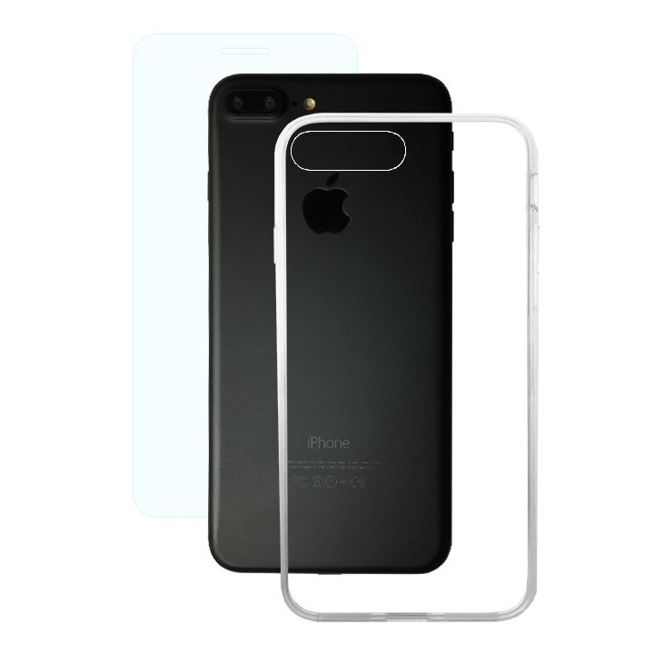 【iPhone8 Plus/7 Plusケース】AppBank Store特別セット A+ Clear Panel Case/クリスタルアーマー 0.15mm強化ガラスセット iPhone 8 Plus/7 Plus_0