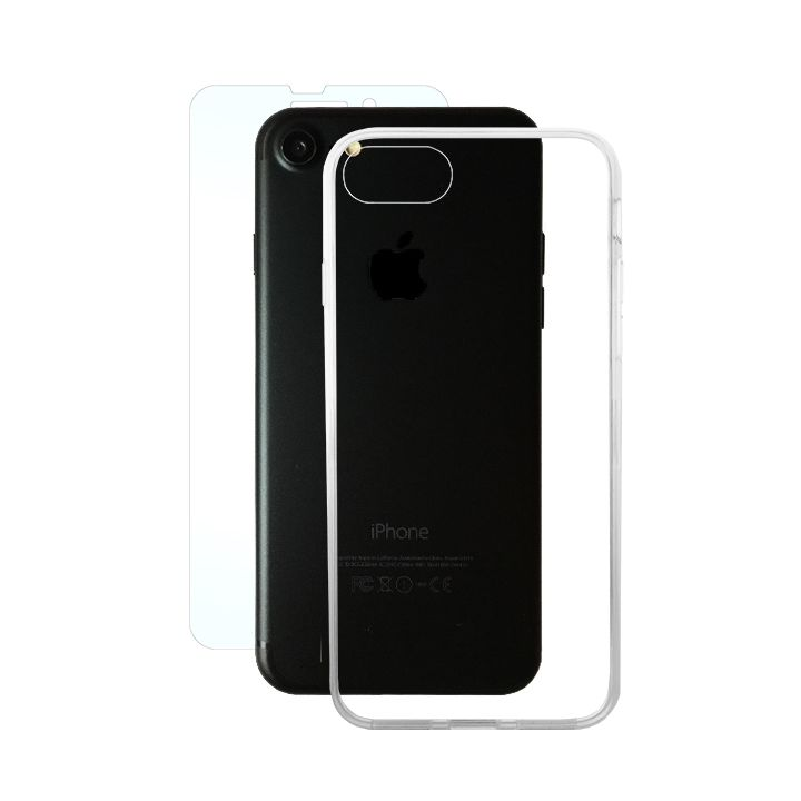 【iPhone8/7ケース】AppBank Store特別セット A+ Clear Panel Case/マックスむらいのアンチグレアフィルムセット iPhone 8/7_0
