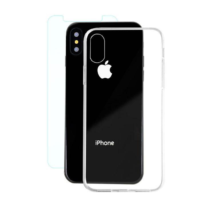 【iPhone Xケース】AppBank Store特別セット A+ Clear Panel Case/クリスタルアーマー 0.15mm強化ガラスセット iPhone X_0